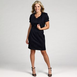 Connected Apparel Womens 2 pc Jacquard Dress and Jacket