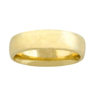 Fremada 14k Yellow Gold 6 mm Wedding Band