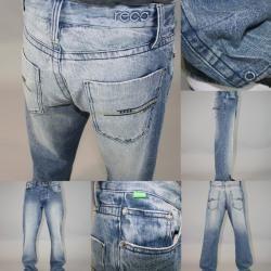 Reco Jeans Mens Olulu Straight Leg Jeans