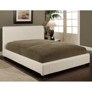 Abbyson Living Malibu White Bi Cast Leather Full Size Bed