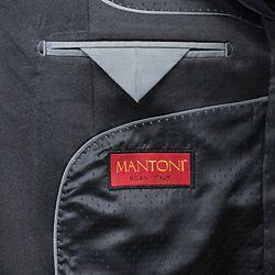 Mantoni Mens Black Wool 2 button Tuxedo