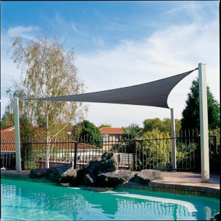 Gale Pacific 433505 Coolaroo 165 Triangle Shade Sail   Ocean Blue
