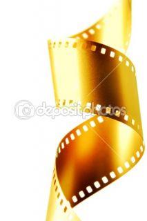 Gold 35 mm film  Stock Photo © Roman Sigaev #1427515