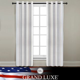 Veratex Grand Luxe Pearl Ramie Linen Gotham Grommet Window Panel