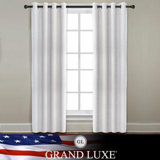 Veratex Grand Luxe Pearl Ramie Linen Gotham Grommet Window Panel