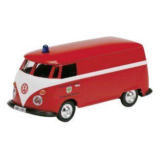 Schuco 452573400   VW T1 Feuerwehr, 1:87, rot / weiß: