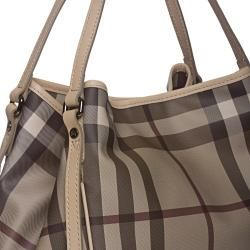 Burberry 3787009 Medium Smoke Check Tote