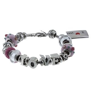 Signature Moments Sterling Silver Love Theme Bracelet