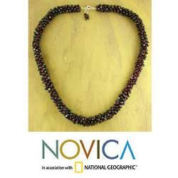 Loves Fortunes Garnet Beaded Necklace (India)