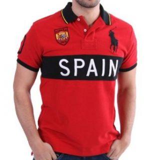 Ralph Lauren Länder Polo Shirt   Spain   Rot Bekleidung