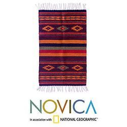 Zapotec Festival Wool Rug (2 x 3.4 inches) (Mexico) Today $94.99