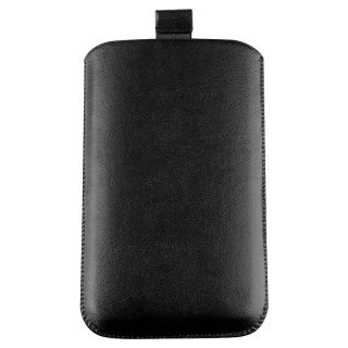 Black Leather Pouch for Samsung Galaxy Note N7000