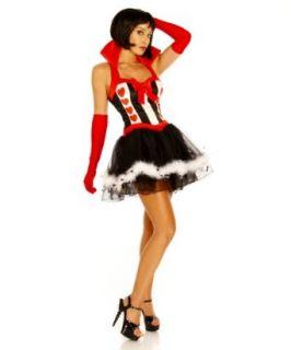 Sexy Alice im Wunderland Kostüm ALICE, schwarz/rot/weiß