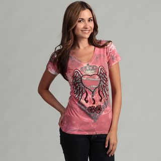 Spy Womens Heart Wing Design T Shirt