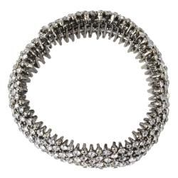 Lillith Star Black Ruthenium Grey Crystal Stretch Bracelet