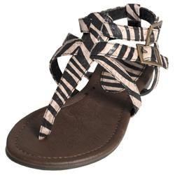 Journee Collection Girls Trish 2s Zebra T strap Sandals Today: $25