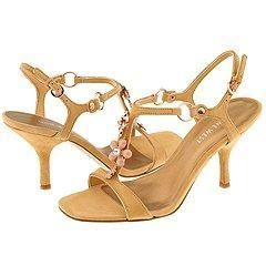 Nine West Mimiday Gold/Orange Multi Suede