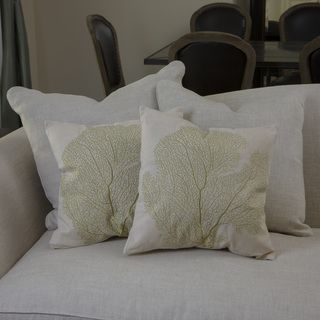 Christopher Knight Home Beige Embroidered Pillows (Set of 2