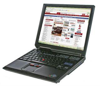 Used IBM R40 Centrino 1.3ghz DVD/CDRW Laptop Computer (Refurbished