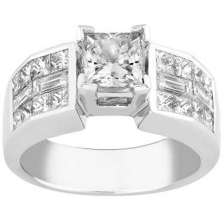 Platinum 3ct TDW Diamond Engagement Ring