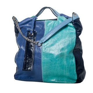 WE GO by Mania Multi color Leather XL Tall Handle Tote