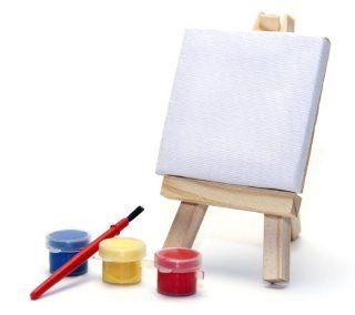 Mini Leinwand inklusive Farben und Pinsel Set Küche