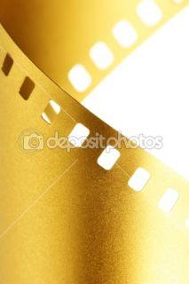 Gold 35 mm film macro  Stock Photo © Roman Sigaev #1431462
