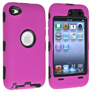 BasAcc Black/ Pink Hybrid Case for Apple® iPod touch Generation 4