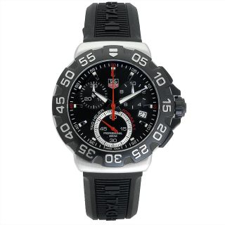 Tag Heuer Mens Formula 1 Black Rubber Chronograph Dial Watch