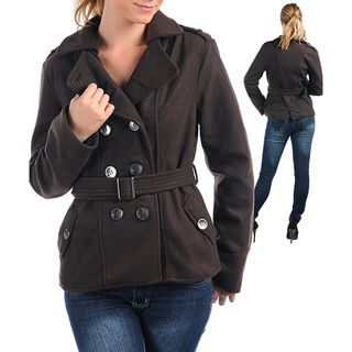 Stanzino Womens Brown Double breasted Belted Coat