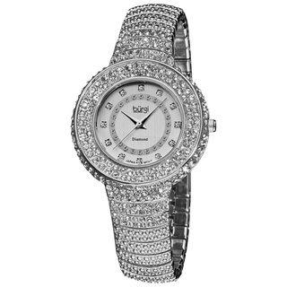 Burgi Womens Diamond Accent And Crystal Fashion Watch