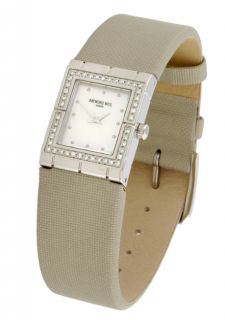 Raymond Weil Tema Womens Satin Strap Diamond Watch