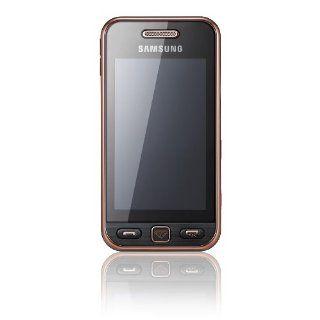 Samsung Star S5230 Smartphone black gold Elektronik
