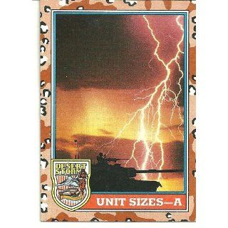 Desert Storm Unit Sizes A Card#141 Everything Else