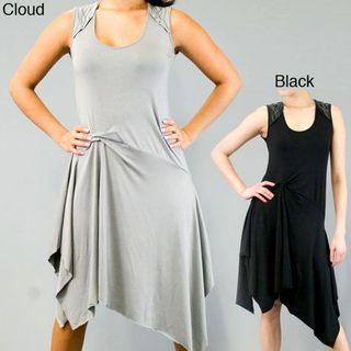 AtoZ Womens Sleeveless Side gathered Waist Dress