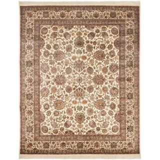 Asian Hand knotted Royal Kerman Ivory Wool Rug (9 x 12)