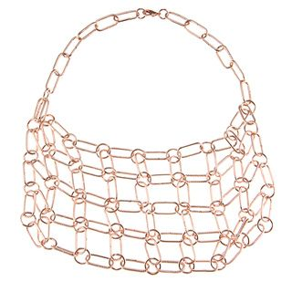 ABS by Allen Schwartz 18 inch Link Bib Necklace