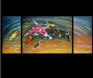 Fish Painting Chinese Feng Shui Art Koi Painting 145
