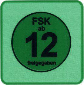 20 Stück FSK 12 Aufkleber / Sticker   FSK ab 12 freigegeben