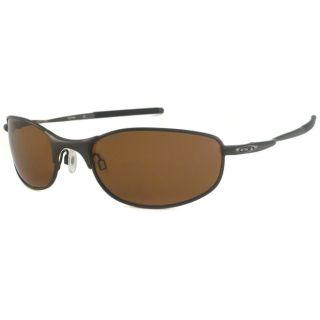 Oakley Mens Tightrope Polarized Rectangular Sunglasses