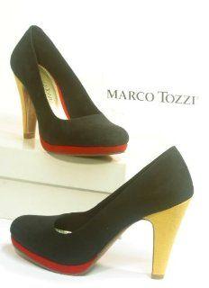 4842 Marco Tozzi Pumps schwarz / rot / gelb Schuhe
