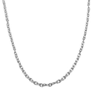 Fremada Sterling Silver 2.8 mm Concave Cable Link Chain