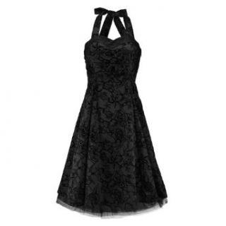 London Kleid TATTOO 50S DRESS black black: Bekleidung
