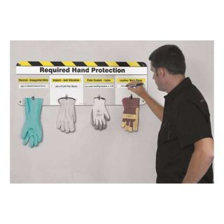 Accuform Signs PPL404 Caution Sign, 12 x 36In, BK/WHT/YEL, ENG