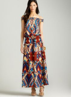 Torn Silvia mayan maxi dress