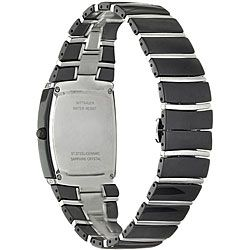 Wittnauer Mens Ceramic and Steel Black Watch