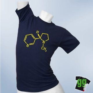 Nikotin Strukturformel   T Shirt für gamer und geeks