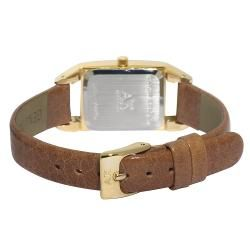 Anne Klein Honey Brown Leather Strap Watch