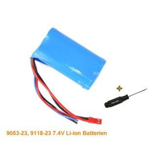 9053 26, 9118 26 7.4V Li ion Akku Batterien ! Ersatzteil Double Horse
