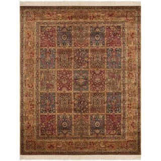 Asian Hand knotted Royal Kerman Multicolor Wool Rug (8 x 10